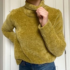 Vintage Chenille Green Sweater